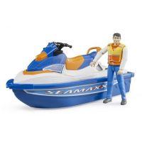 Bruder 63150 Vodní skútr s figurkou