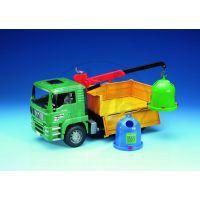 Bruder Nákl. auto MAN - jeřáb + 2 kontejnery