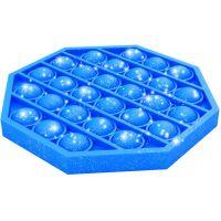 Bubble Pop It Praskajúce bubliny antistresová spoločenská hra modrá