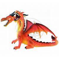 Bullyland 75598 Drak dvouhlavý oranžový