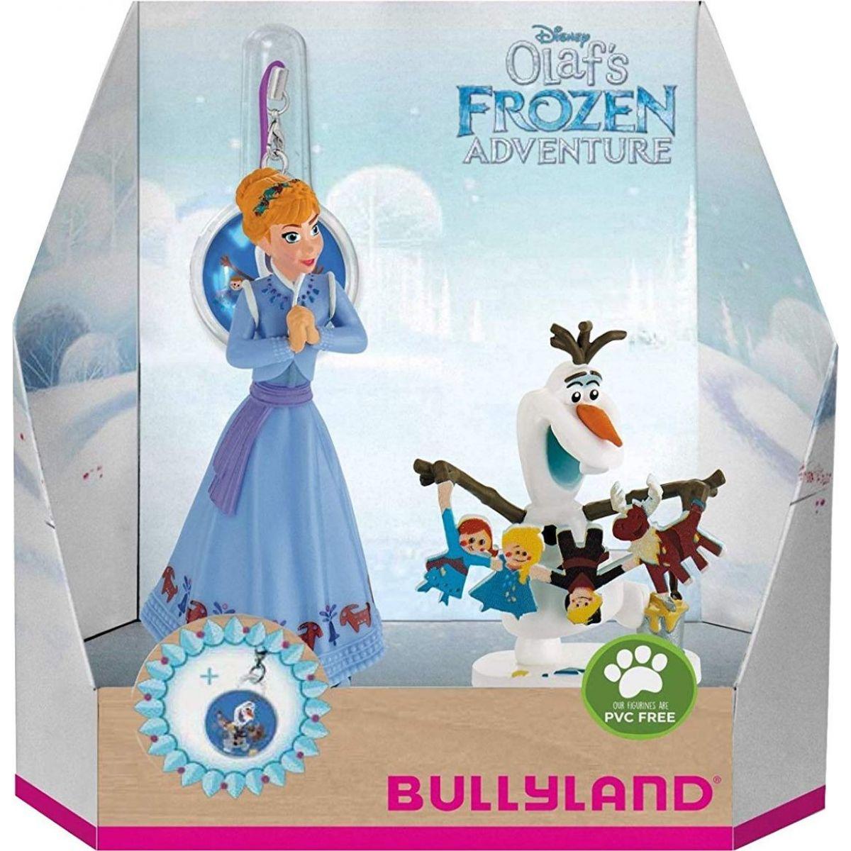 Bullyland Disney Ledové králoství set 2 ks Anna, Olaf a přívěšek
