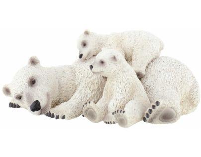 Bullyland 63660 Lední mědvěd s mláďaty