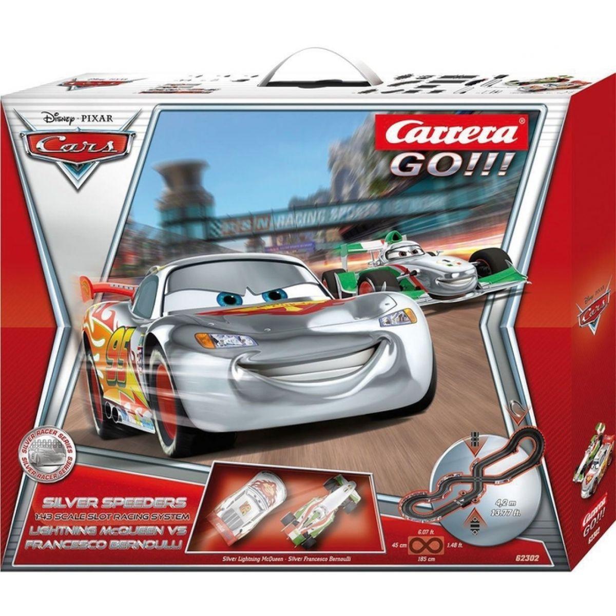 Autodráha Carrera GO! Disney Cars 2 - Silver Speeders
