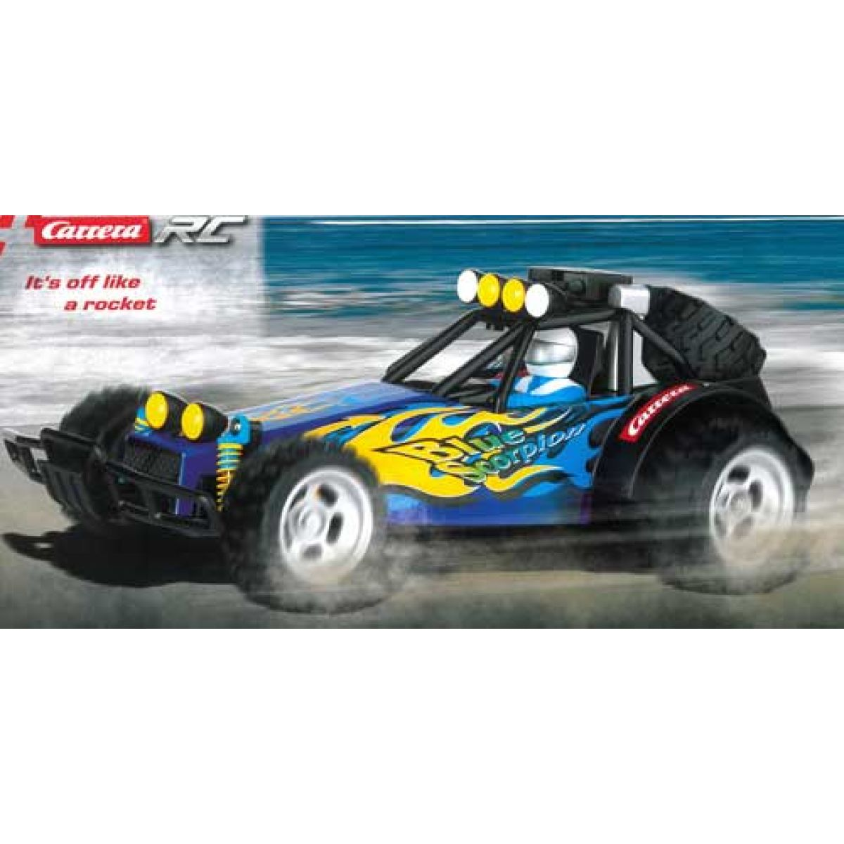 Carrera CC1009 - RC auto Buggy Blue Scorpion