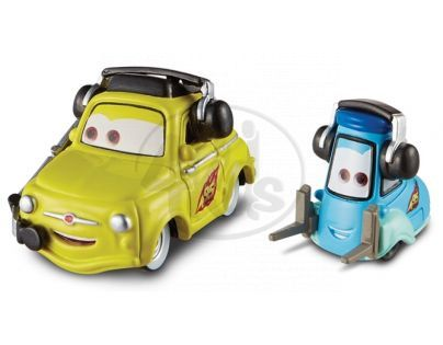 Mattel Cars 2 Auta - Luigi  a Guido with headsets