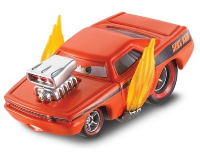 Mattel Cars 2 Auta - Snot Rod with flames