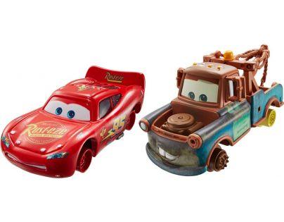 Mattel Cars 2 Autíčka 2ks - Burák a Blesk McQueen bez pneumatik