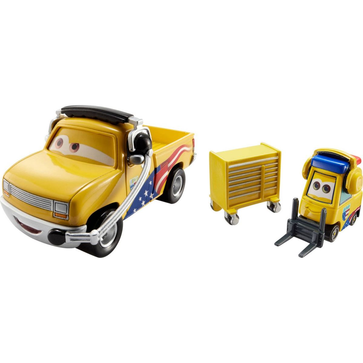 Mattel Cars 2 Autíčka 2ks - Jeff Gorvette Pitty a John Lassetire