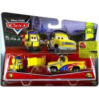 Mattel Cars 2 Autíčka 2ks - Jeff Gorvette Pitty a John Lassetire 2