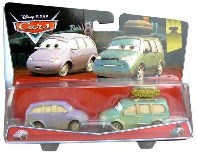 Mattel Cars 2 Autíčka 2ks - Mini a dodávka v poušti