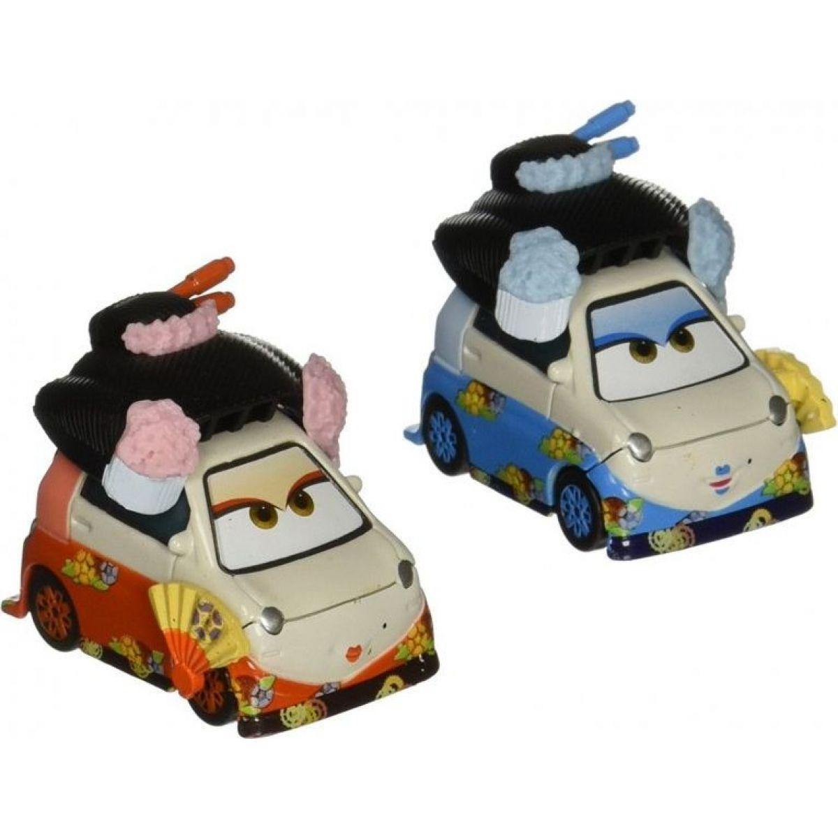 Cars 2 autíčka 2ks Mattel Y0506 - Okuni a Shigeko - Poškozený obal
