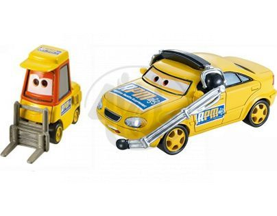 Mattel Cars 2 Autíčka 2ks - Chief a Petrol Pulaski