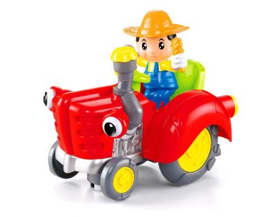 Made CarToon Traktor - Červená