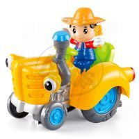 Made CarToon Traktor - Oranžová