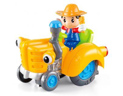 Made CarToon Traktor Oranžová