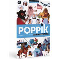 Poppik Samolepkový plakát vzdělávací Časová osa historie