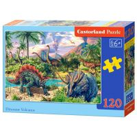 Castorland Puzzle 120 dílků Dinosaurské vulkány