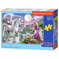Castorland Puzzle 120 dílků Princezna a jednorožec