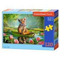 Castorland Puzzle 120 dílků Tygr a leknín