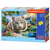 Castorland Puzzle 180 dílků Bílý tygr za soumraku