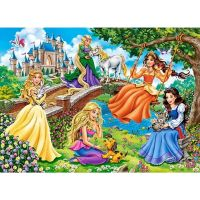 Castorland Puzzle 180 dílků Princezny v zahradě