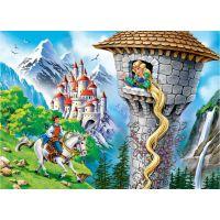 Castorland Puzzle 260 dílků Princezna s dlouhými vlasy