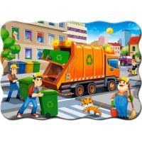 Castorland Puzzle 30 dílků Popelářské auto