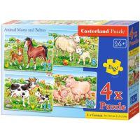 Castorland Puzzle 4 v 1 Maminka a mláďátko