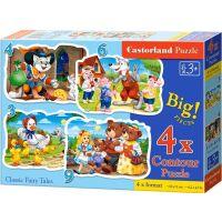 Castorland Puzzle 4 v 1 mini Pohádky