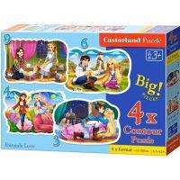 Castorland Puzzle 4 v 1 mini Zamilované pohádky