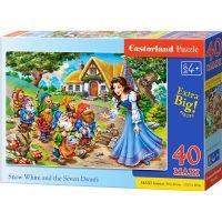 Castorland Puzzle 40 Maxi Sněhurka a 7 trpaslíků