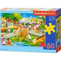 Castorland Puzzle Navštěva v ZOO 60 dílků