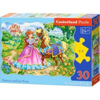 Castorland Puzzle Princezna s koníkem 30 dílků