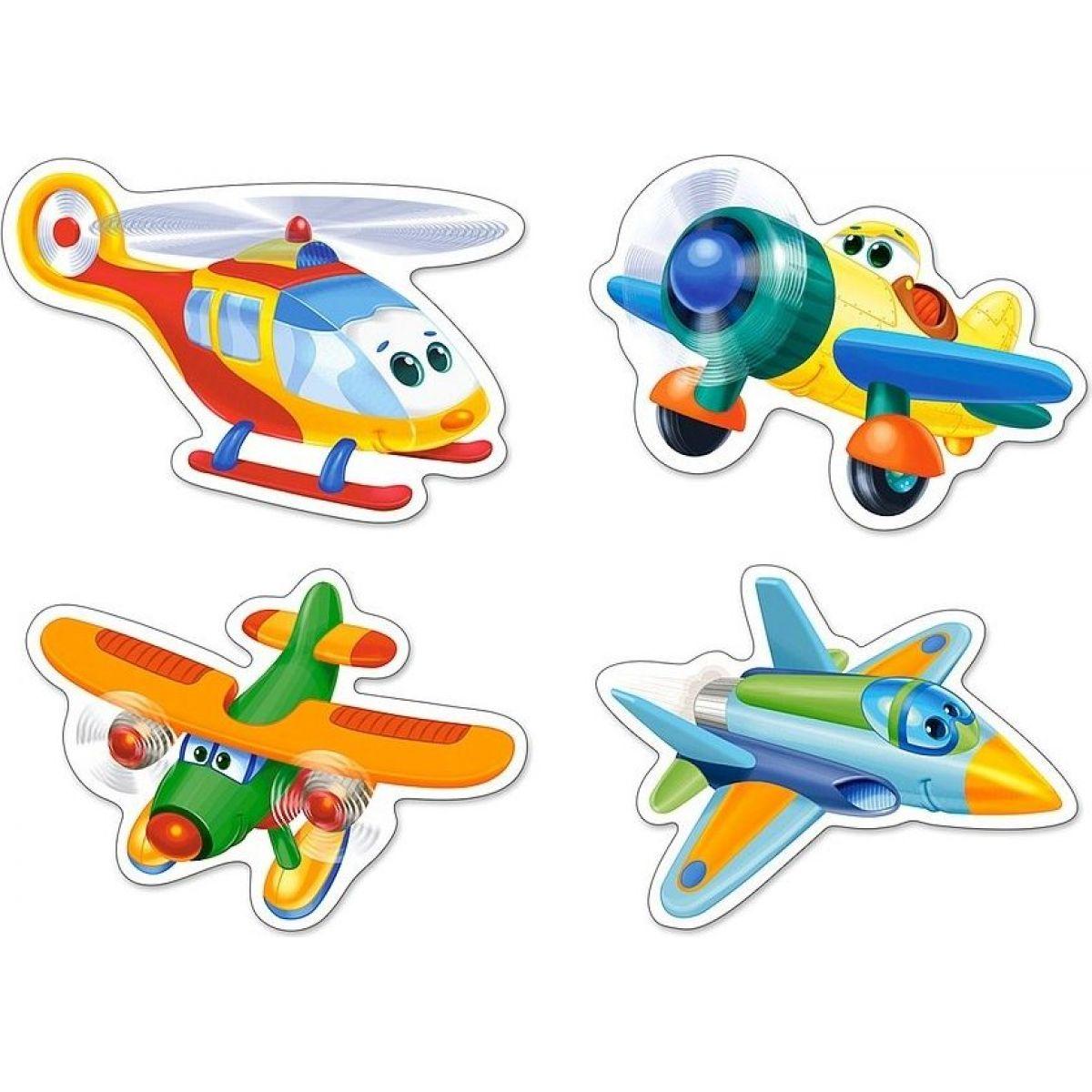 Castorland Puzzle 4 v 1 mini Letadla