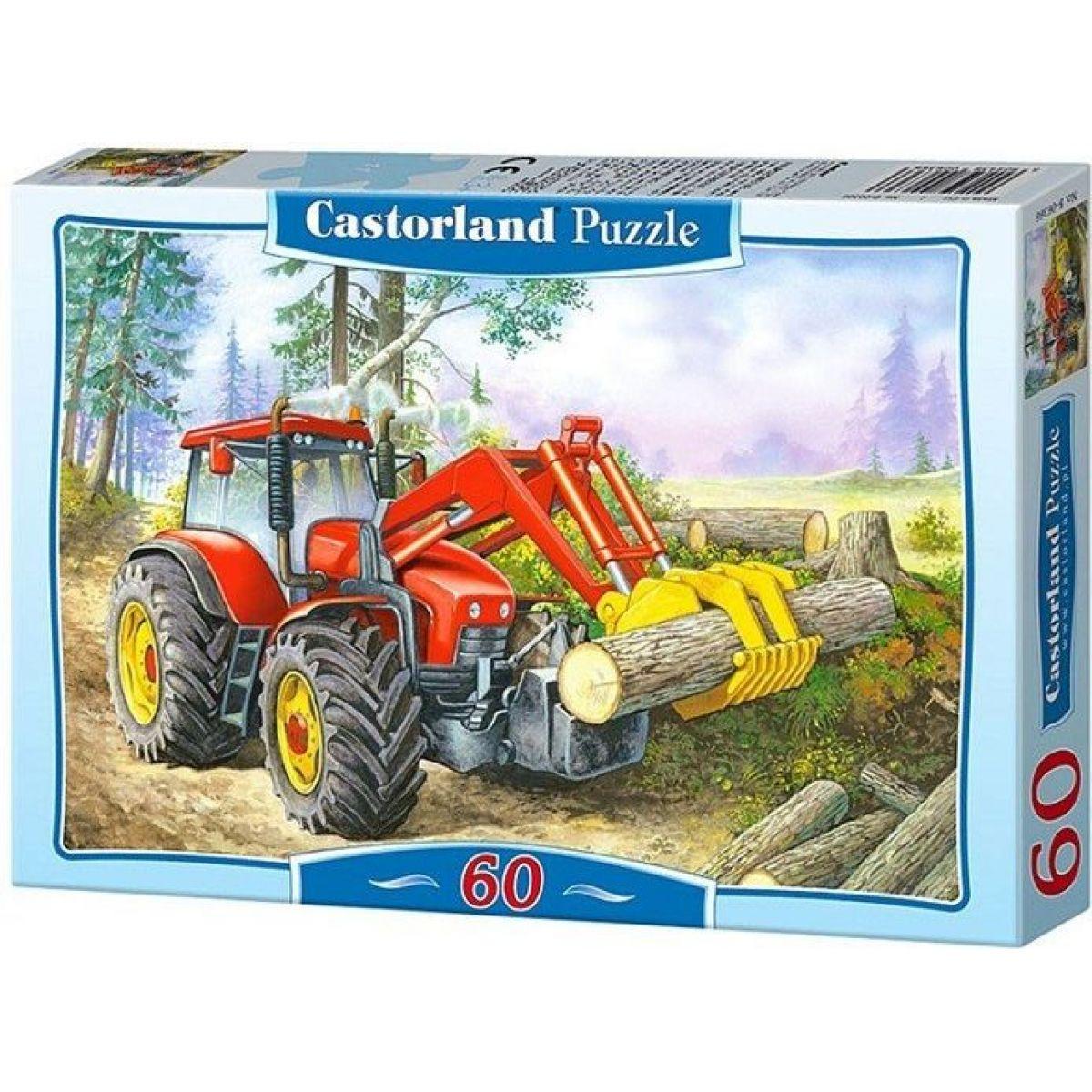 Castorland Puzzle Traktor nakladač 60 dílků