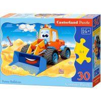 Castorland Puzzle Veselý buldozer 30 dílků