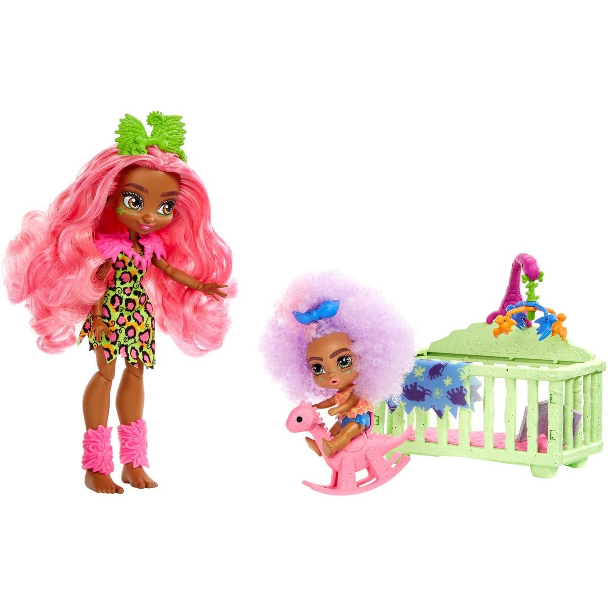 Cave Club 2ks bábika s dino zvieratkom