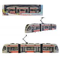 Made Česká tramvaj s otevírací dveřmi a volnými koly
