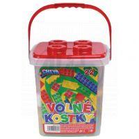 CHEVA 11022 - Stavebnice CHEVA 22 Volné kostky - kbelík