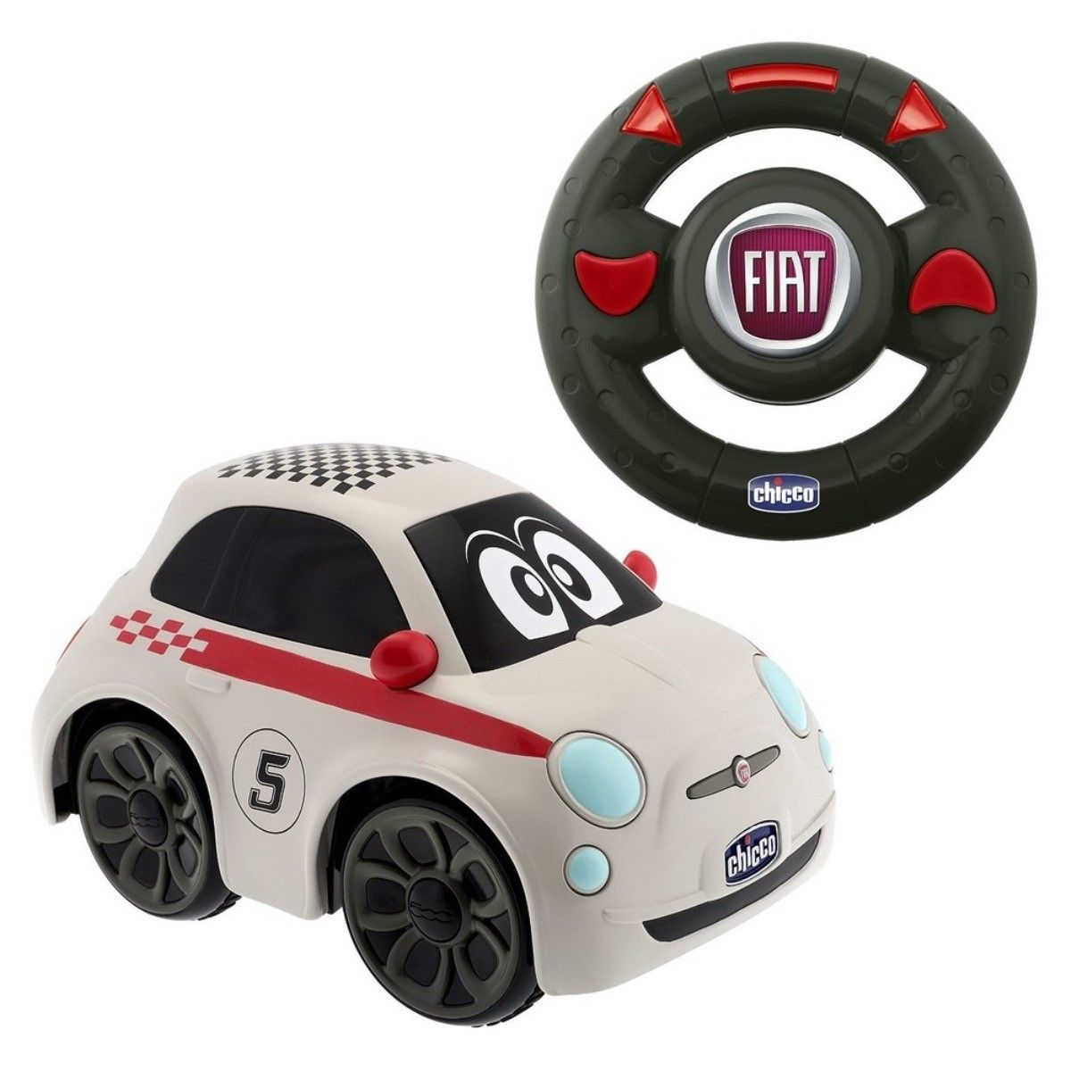 Chicco RC Autíčko Fiat 500 na dálkové ovládání