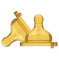 Chicco Dudlík na láhev fyziologický kaučukový, střední průtok, 2 ks