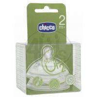 CHICCO 60074 Dudlík silikon Step Up silikon, 1 dírka 2m+, 2ks 2