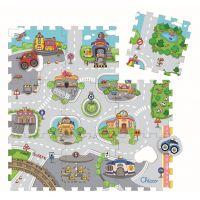Chicco Hračka puzzle pěnové Město 9 ks