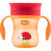 Chicco Hrneček 360 s držadly 200 ml oranžový