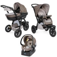 Chicco Kočárek trojkombinace Trio Activ3 Dove Grey