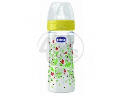 Chicco láhev polypropylen 250 ml dudlík silikon 2m Berušky