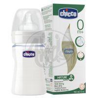 Chicco láhev sklo 150 ml dudlík silikon 0m