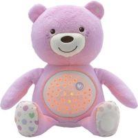 Chicco medvídek s projektorem růžová