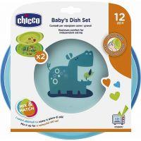 Chicco Modrá jídelní sada s talířem a miskou 5