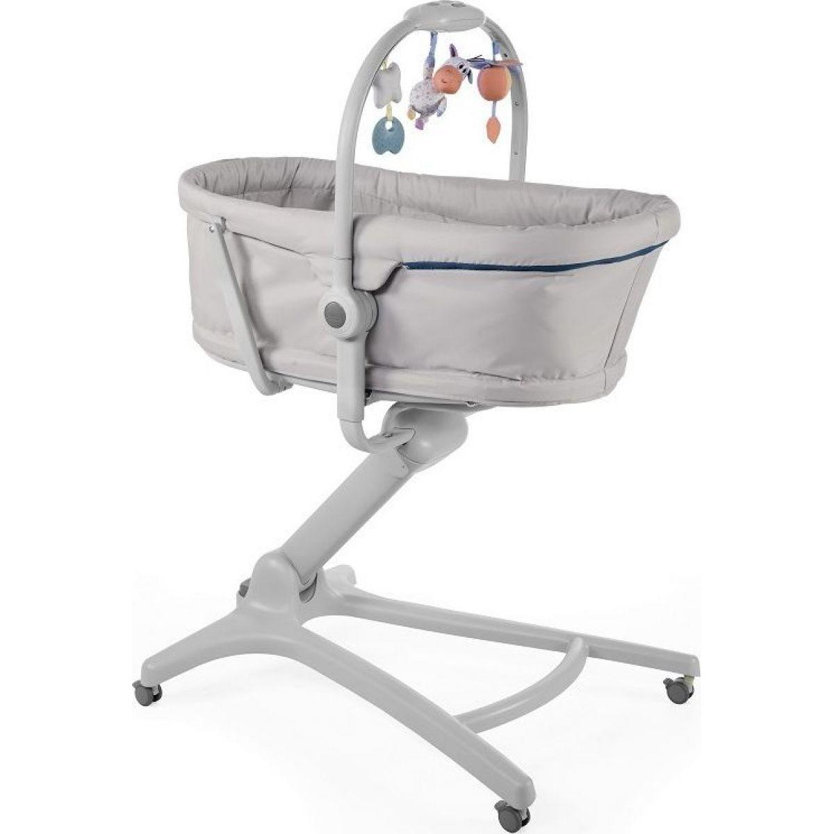 Chicco Postýlka, lehátko a židlička Baby Hug 4v1 Glacial